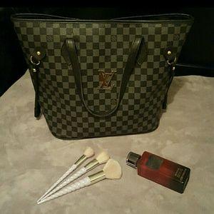 Checkered purse